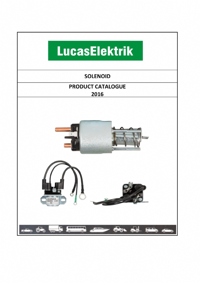 SOLENOID PRODUCT CATALOGUE AĞU 16